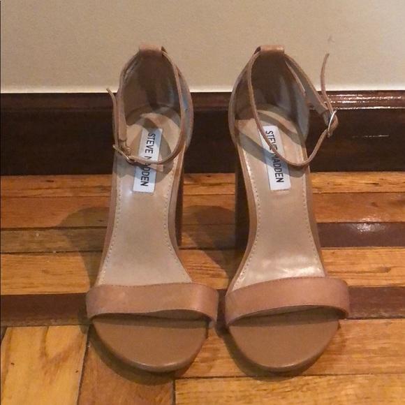 55988c91382 Steve Madden Carrson Tan Chunky Heels
